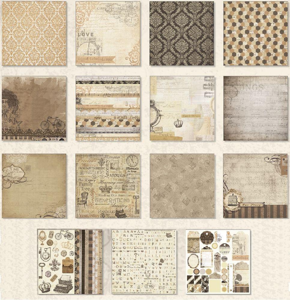 ursus vintage paper pack good old times 27 blatt 30 5x30 5cm scrapbook papier ebay. Black Bedroom Furniture Sets. Home Design Ideas