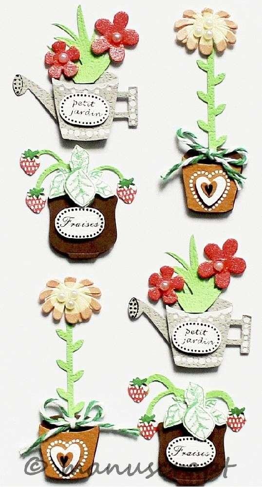 Uberlegen Artwork Sticker, Blumen Im Topf, Pflanzen